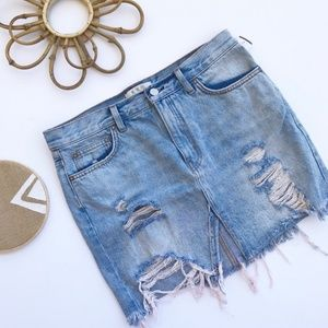28/6 Free People Denim Skirt